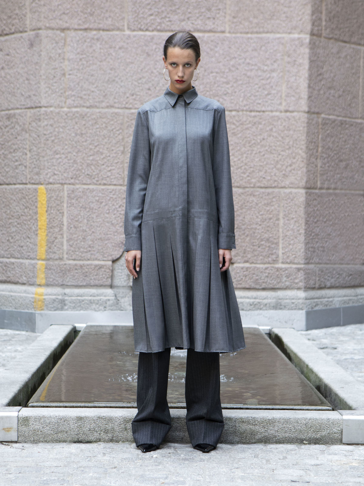 Fara Shirt Dress Grey